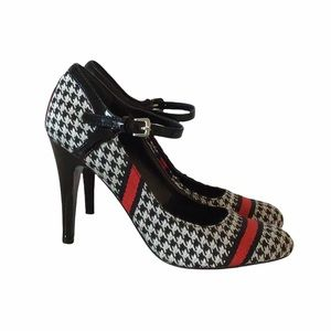 Nine West Houndstooth Mary Jane Pumps, size 7.5
